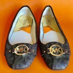 MICHAEL KORS Fulton Signature Flats Size 10 NEW!